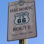 Rt. 66: Historic Route 66 California sign
