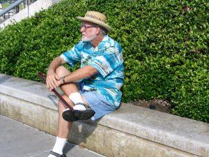 Down LA River Catalina: John Varley waiting for Catalina Express