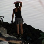 Down LA River Part 11: homeless woman under bridge