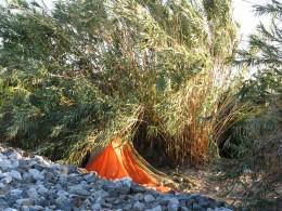 Down LA River Part 11: orange tent