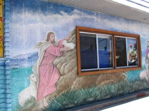 Down LA River Part 6: Jesus with lamb mural
