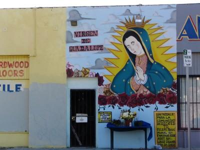 Rt 66: Alhambra, South Pasadena: Virgin de Guadalupe mural