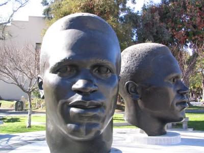 Rt. 66: Colorado Blvd: Jackie & Mack Robinson sculpture
