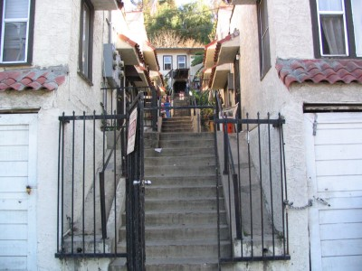 Rt 66: South El Sereno, Montecito Heights, Monterey Hills: Hillside apartments