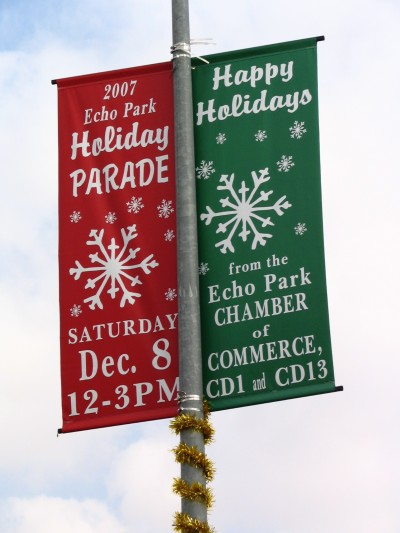 Rt. 66: Echo Park - Holiday Parade, banner