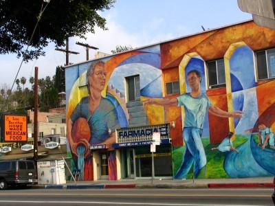 Rt. 66: Echo Park - mural, Farmacia