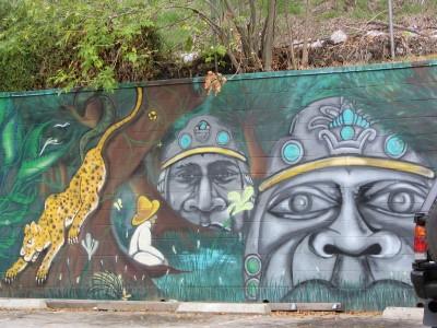 Rt. 66: Echo Park - mural, jungle