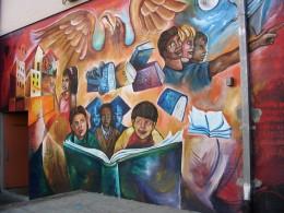 Rt. 66: Silverlake murals, St. Francis School-2