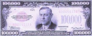 Santa Anita 2008: 100,000 dollar bill