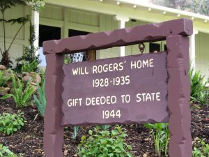 Sunset Boulevard - Part 17.5: Will Rogers State Historic Park: Will Rogers sign