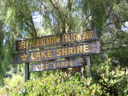 Sunset Boulevard - Part Eighteen: Self Realization Fellowship Lake Shrine: sign 2