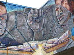Sunset Boulevard - Part Five: The Music Box, Fair Wages Dignity mural