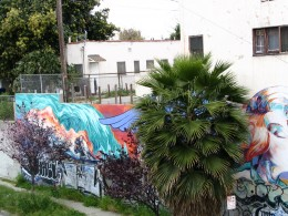 Sunset Boulevard - Part Four: Echo Park to Silverlake: graffitied mural, 2