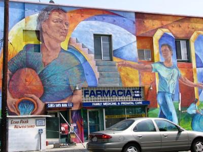 Sunset Boulevard - Part Three: Echo Park, Farmacia mural