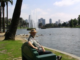 Sunset Boulevard - Part Three: Echo Park Lake, John Varley, fountain