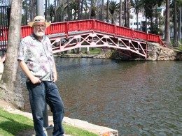 Sunset Boulevard - Part Three: Echo Park Lake, John Varley, red Chinese bridge