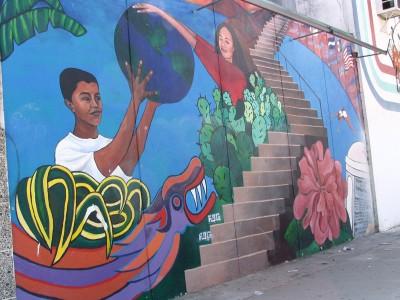 Sunset Boulevard - Part Three: Echo Park, stairway mural