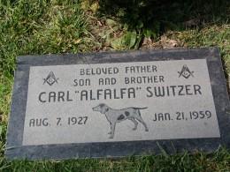 "Sunset Boulevard – The Dead: Part 1 - Hollywood-Forever: Carl ""Alfalfa"" Switzer"