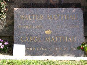 The Dead - Part 2: Pierce Brothers Westwood Village Memorial Park: Walter Matthau