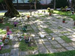 The Dead - Part 2: Pierce Brothers Westwood Village Memorial Park: mosiac of stones