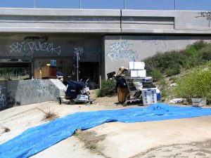 Up LA River Part 12: untidy homeless camp