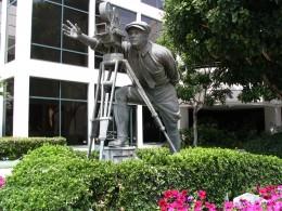 Up LA River Part 8: cameraman sculpture