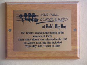 Up LA River Part 9: Bob's Big Boy Beatles plaque
