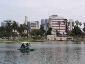 Wilshire Blvd Part 1: MacArthur Park paddle boating