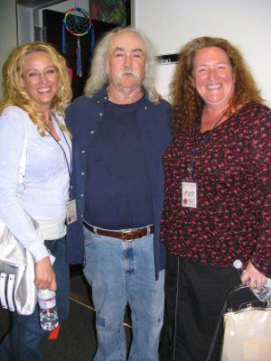 CSNY: Virginia Madsen, David Crosby, Rusty Schwimmer