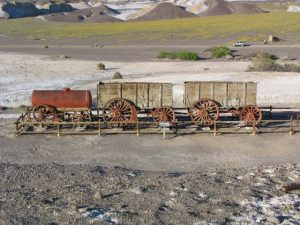 Death Valley: old borax mill