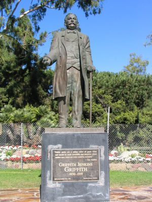 Griffith J Griffith statue