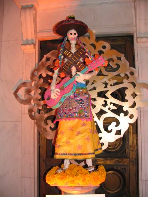 Hollywood Forever Day of the Dead: Calaca sculpture 3