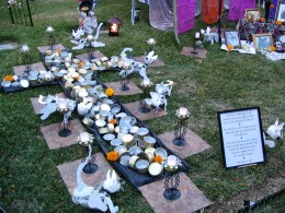 Hollywood Forever Day of the Dead: tainted pet food altar