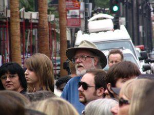 John Varley in the crowd