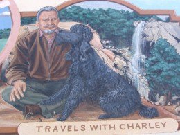 Steinbeck Center mural: Travels with Charley