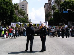 Hollywood Antiwar March: In front