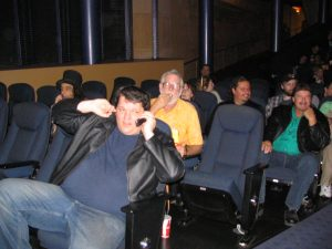 The Rutles Reunion: John Varley eating popcorn