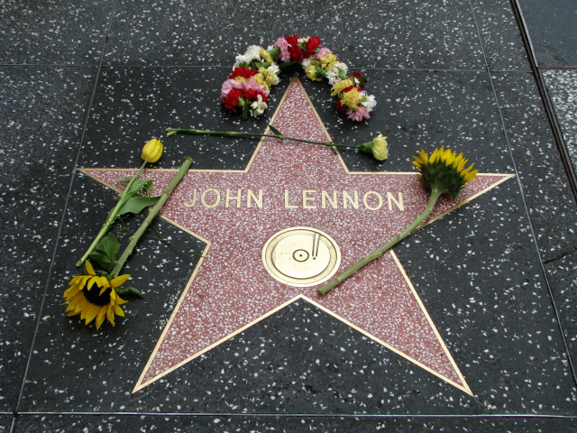 John Lennon Hollywood Star