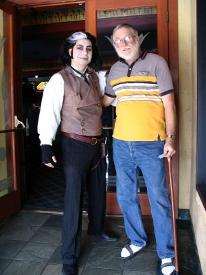 John Varley with Sweeney Todd at the Vista Theatre