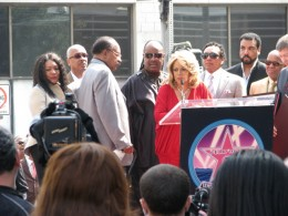 The Miracles Hollywood Star: Gloria White, Marvin Tarplin, Bobby Rogers, Stevie Wonder, Claudette Rogers, Smokey Robinson, Billy Griffin, Berry Gordy