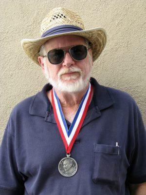 John Varley wearing 2009 RAH Award