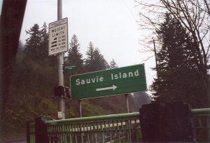 Sauvie Island sign