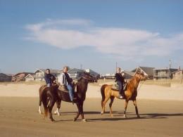 three on horseback