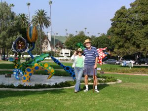 Rt. 66: Beverly Hills, John Varley & Lee Emmett Audrey sculpture