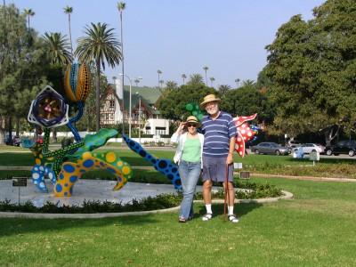 Rt. 66: Beverly Hills, John Varley & Lee Emmett Audrey sculpture