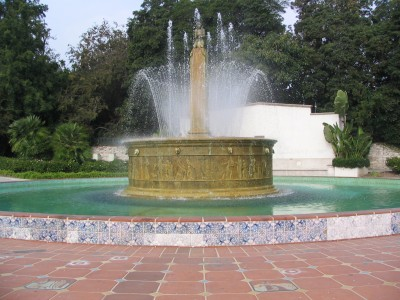 Rt. 66: Beverly Hills fountain, Wilshire & Santa Monica Blvd