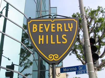 Rt. 66: Beverly Hills sign