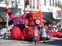 2008 Doo-Dah Parade: The Cat Float 1