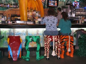 Disneyland and California Adventure Part 1: Rainforest Café bar stools