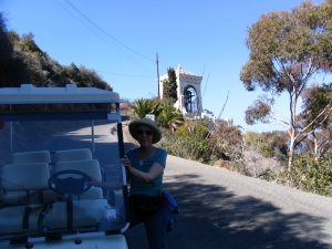 Down LA River Catalina: Lee, golf cart bell tower